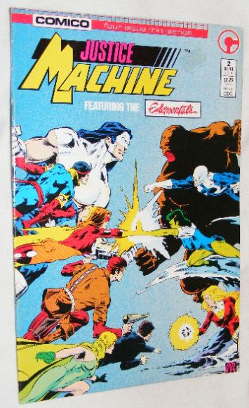 Image for Justice Machine Featuring the Elementals #2, June 1986