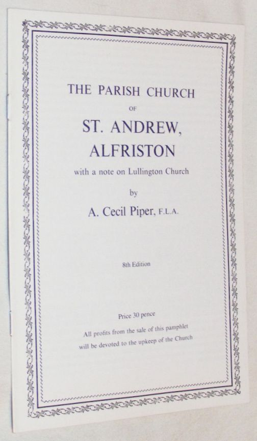 Image for The Parish Church of St Andrew, Alfriston, and a note on Lullington Church