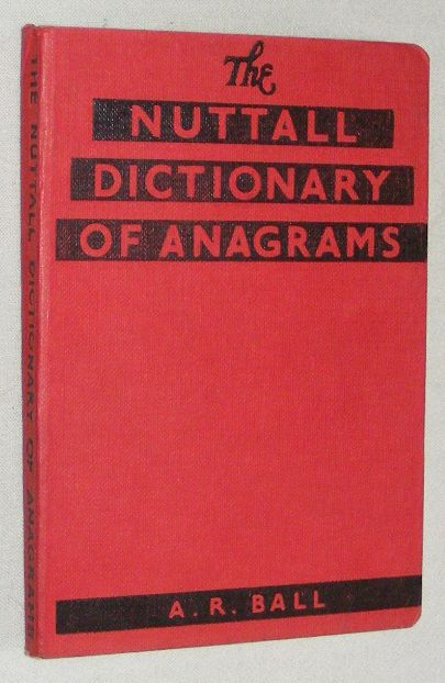 Image for The Nuttall Dictionary of Anagrams