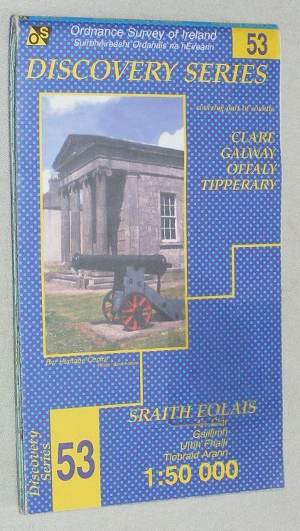Image for Clare, Galway, Offaly, Tipperary (Irish Discovery Series sheet 53) 1:50000 Map