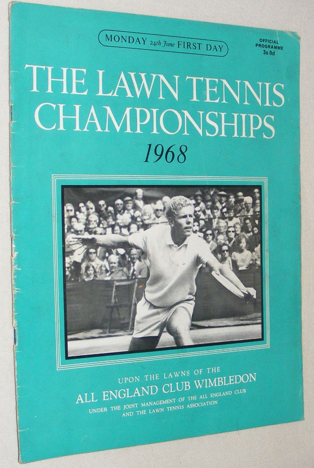 Image for The Lawn Tennis Championships 1968, Monday 24th June, First Day Official Programme