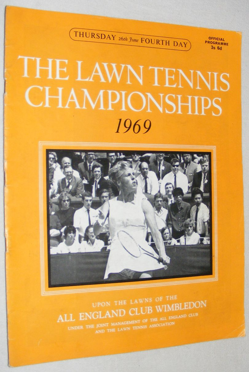 Image for The Lawn Tennis Championships 1969, Thursday 26th June, Fourth Day Official Programme