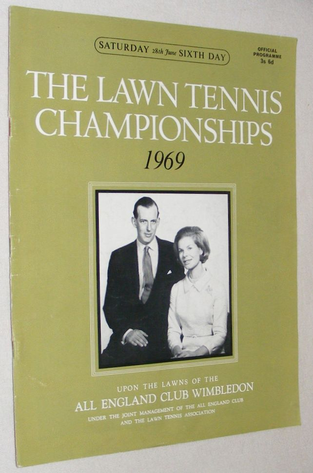 Image for The Lawn Tennis Championships 1969, Saturday 28th June, Sixth Day Official Programme