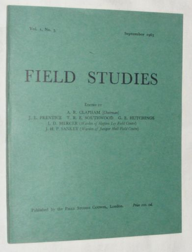 Image for Field Studies Vol.I, No.5 September 1963