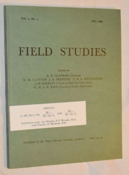 Image for Field Studies vol.2 no.2, July 1965