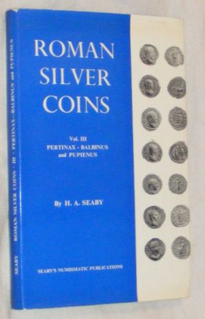 Image for Roman Silver Coins : Vol 3: Pertinax to Balbinus and Pupienus