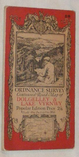 Image for Ordnance Survey Contoured Road Map of Dolgelley & Lake Vyrnwy, Popular Edition One Inch to One Mile Sheet 59