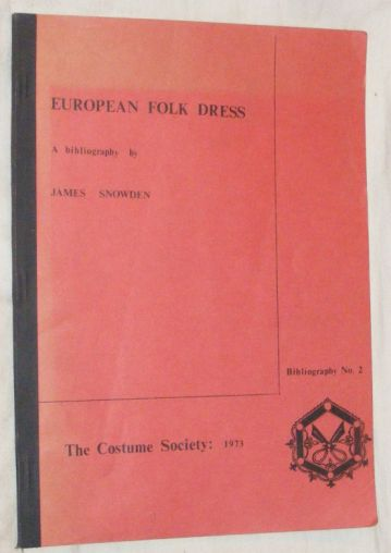 Image for European Folk Dress: a bibliography