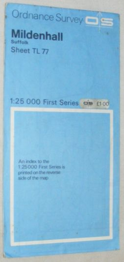 Image for Mildenhall, Suffolk: Sheet TL 77 1:25000 First Series Map