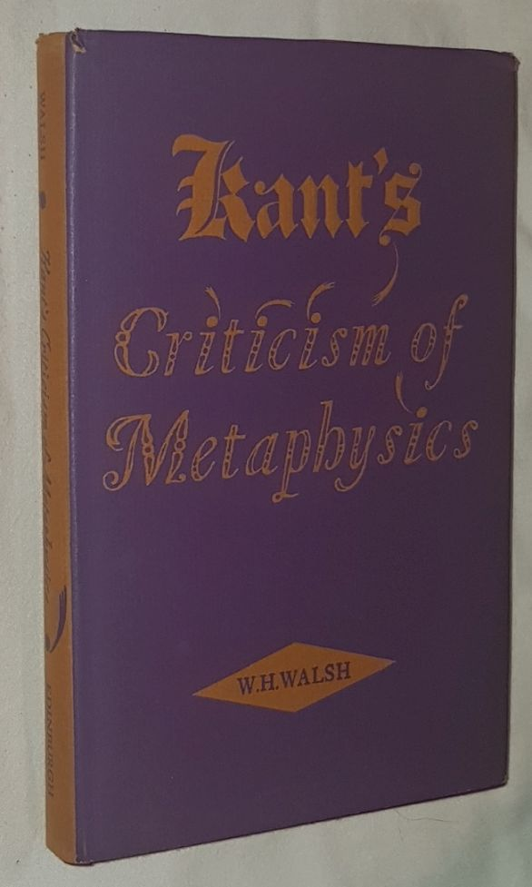 Image for Kant's Criticism of Metaphysics