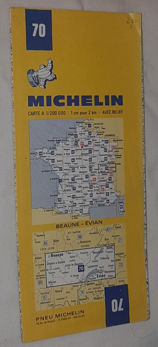 Image for Michelin Map 70 Beaune - Évian. 1:200000