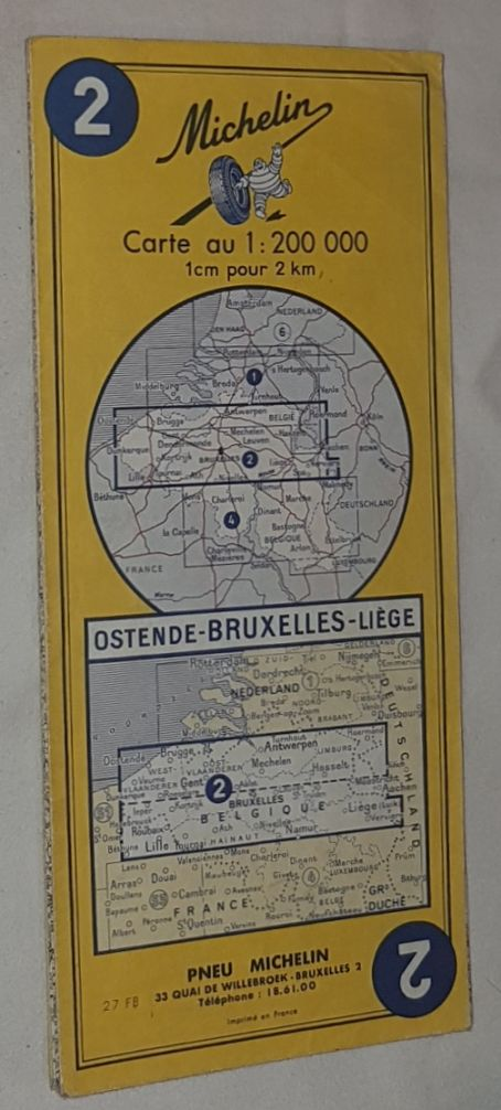 Image for Michelin Map 2 Oostende - Bruxelles - Liège. 1:200000