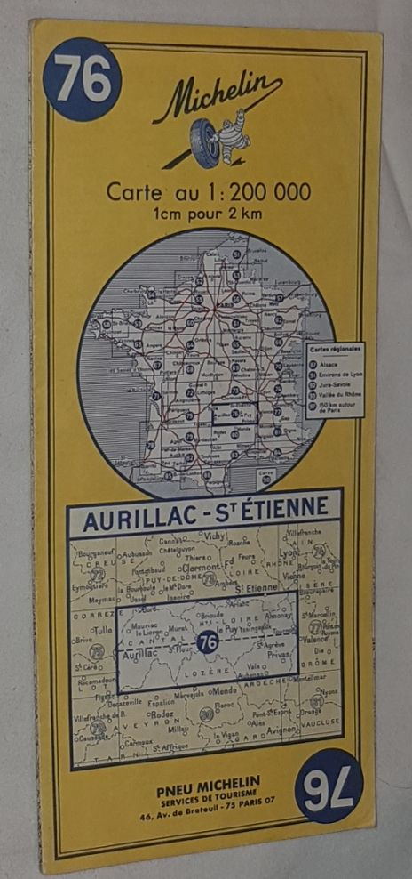Image for Michelin Map 76 Aurillac - St Étienne. 1:200000