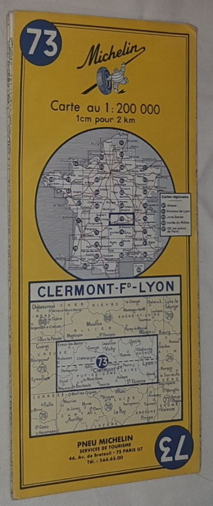 Image for Michelin Map 73 Clermont-Ferrand - Lyon. 1:200000