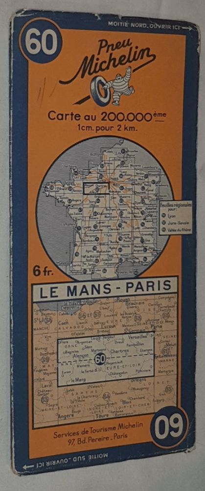 Image for Michelin Map 60 Le Mans - Paris. 1:200000