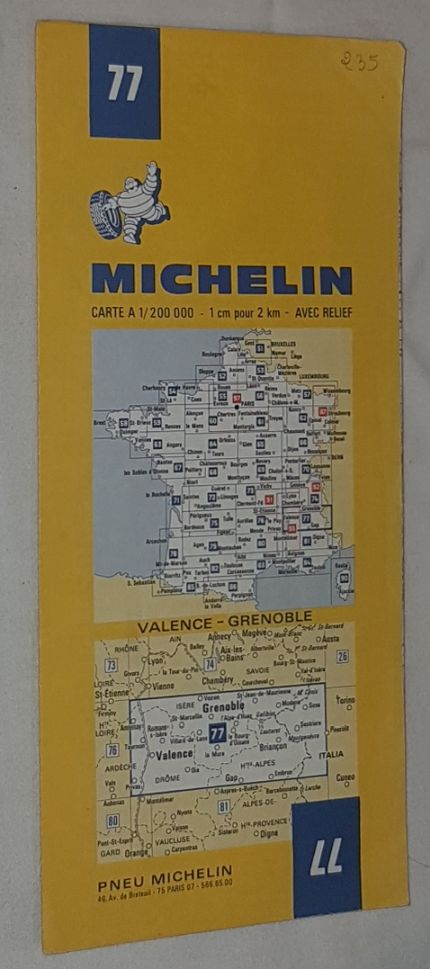 Image for Michelin Map 77 Valence - Grenoble. 1:200000