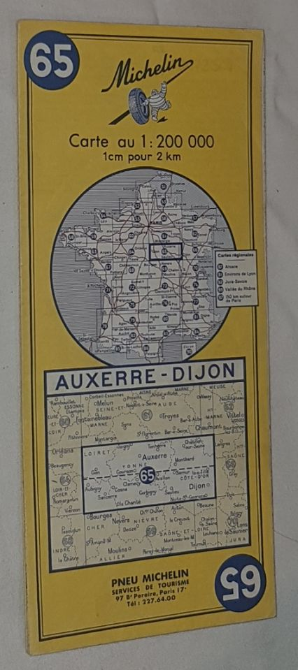 Image for Michelin Map 65 Auxerre - Dijon