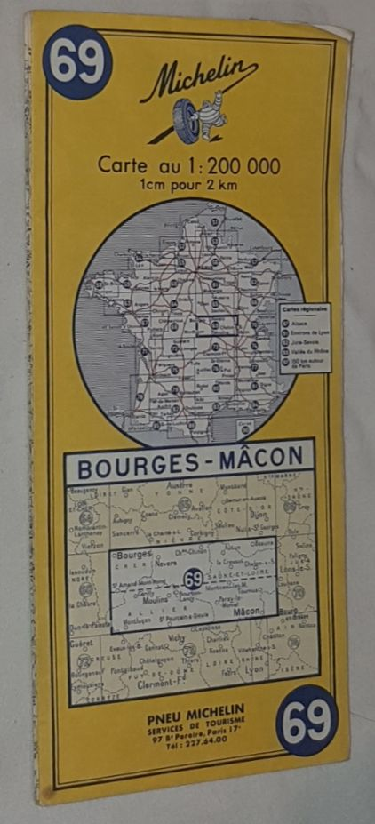 Image for Michelin Map 69 Bourges - Mâcon