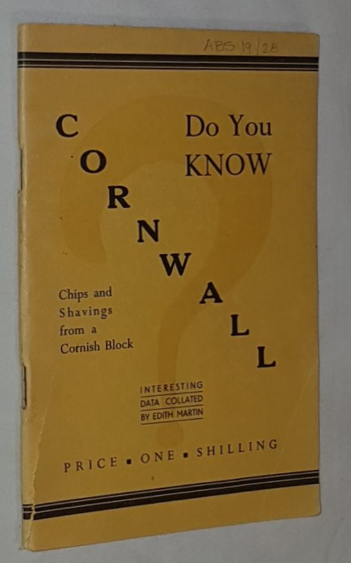 Image for Do you Know Cornwall? Chips and Shavings from a Cornish Block