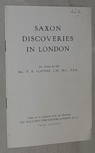 Image for Saxon Discoveries in London