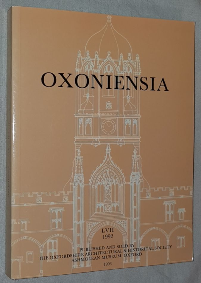 Image for Oxoniensia Volume LVII 1992: a journal dealing with the archaeology, history and architecture of Oxford and its neighbourhood