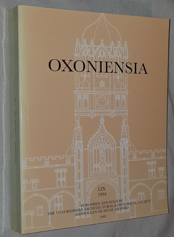 Image for Oxoniensia Volume LIX 1994: a journal dealing with the archaeology, history and architecture of Oxford and its neighbourhood