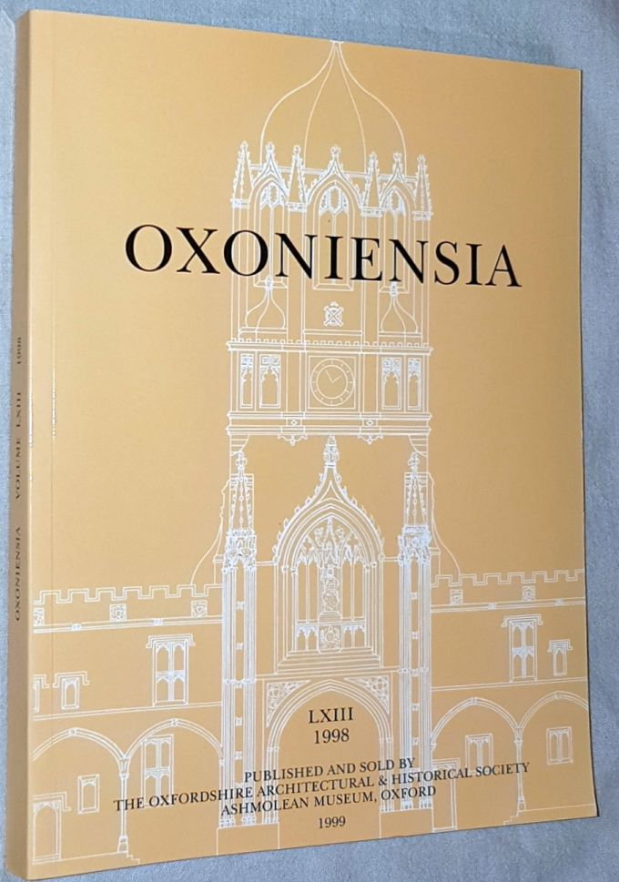 Image for Oxoniensia Volume LXIII 1998: a journal dealing with the archaeology, history and architecture of Oxford and its neighbourhood