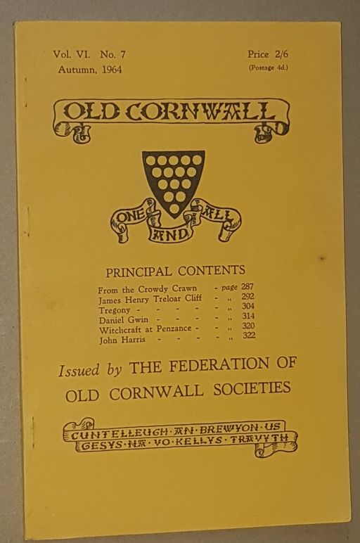 Image for Old Cornwall vol.VI, no.7, Autumn 1964