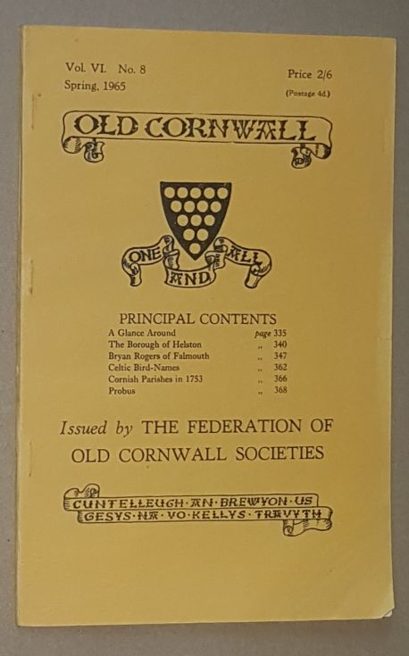 Image for Old Cornwall vol.VI, no.8, Spring 1965