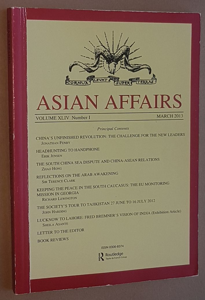 Image for Asian Affairs Volume XLIV, No.1, March 2013. Journal of the Royal Society for Asian Affairs