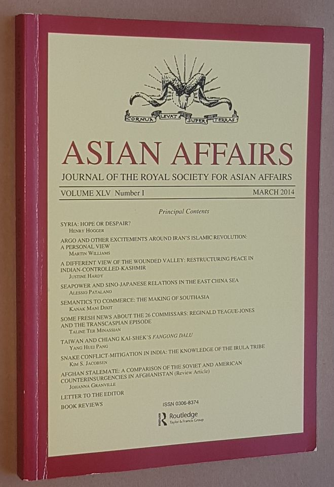 Image for Asian Affairs Volume XLV, No.1, March 2014. Journal of the Royal Society for Asian Affairs