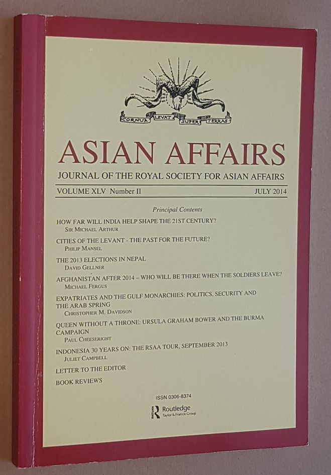 Image for Asian Affairs Volume XLV, No.2, July 2014. Journal of the Royal Society for Asian Affairs
