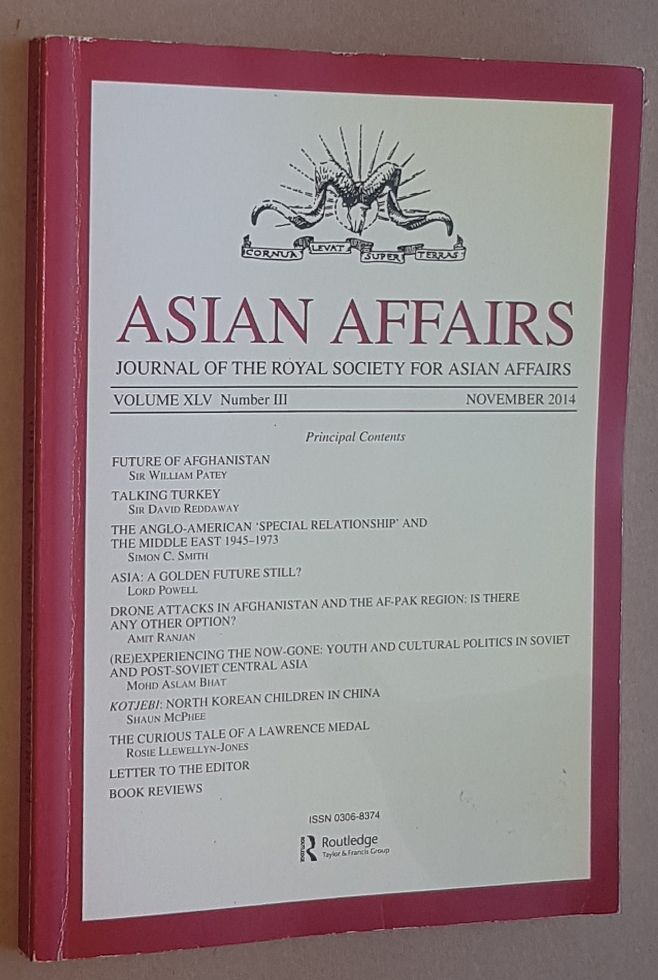 Image for Asian Affairs Volume XLV, No.3, November 2014. Journal of the Royal Society for Asian Affairs