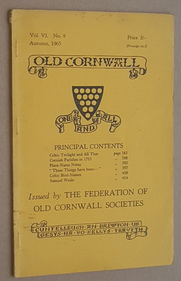 Image for Old Cornwall vol.VI, no.9, Autumn 1965