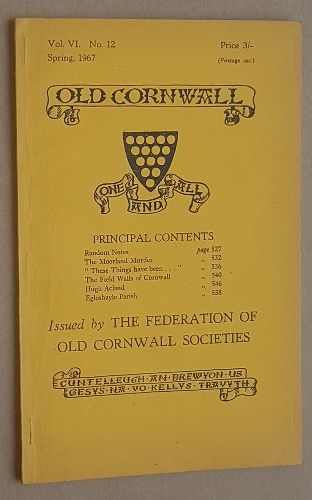 Image for Old Cornwall vol.VI, no.12, Spring 1967