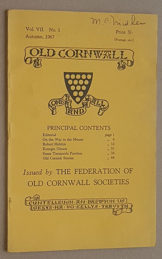 Image for Old Cornwall vol.VII, no.1, Autumn 1967