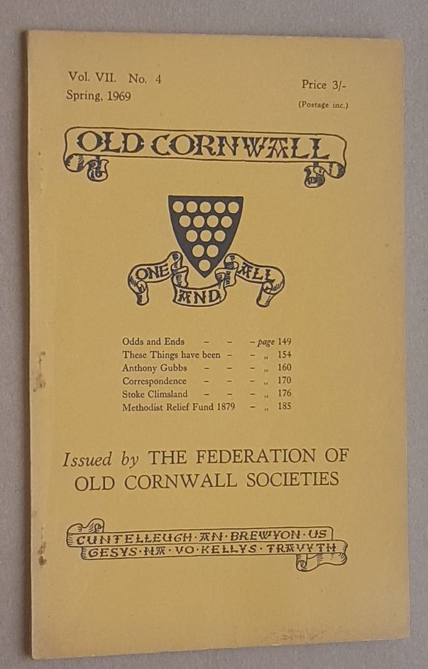 Image for Old Cornwall vol.VII, no.4, Spring 1969