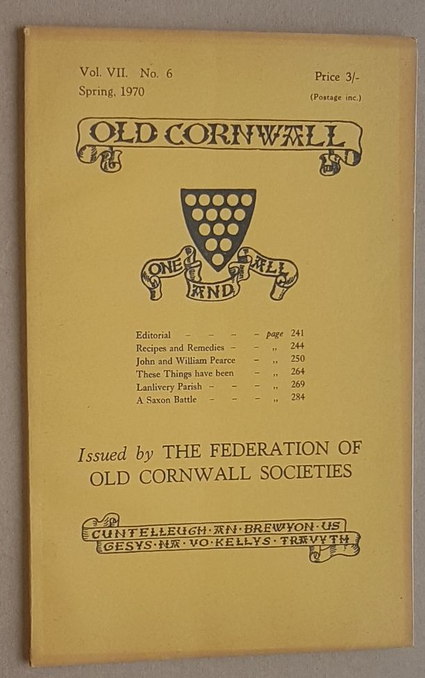 Image for Old Cornwall vol.VII, no.6, Spring 1970