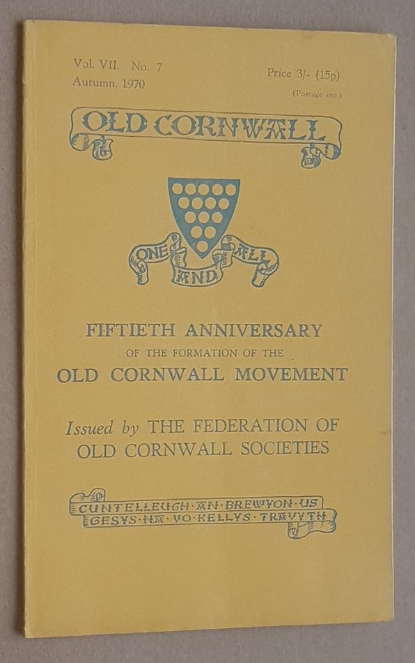 Image for Old Cornwall vol.VII, no.7, Autumn 1970