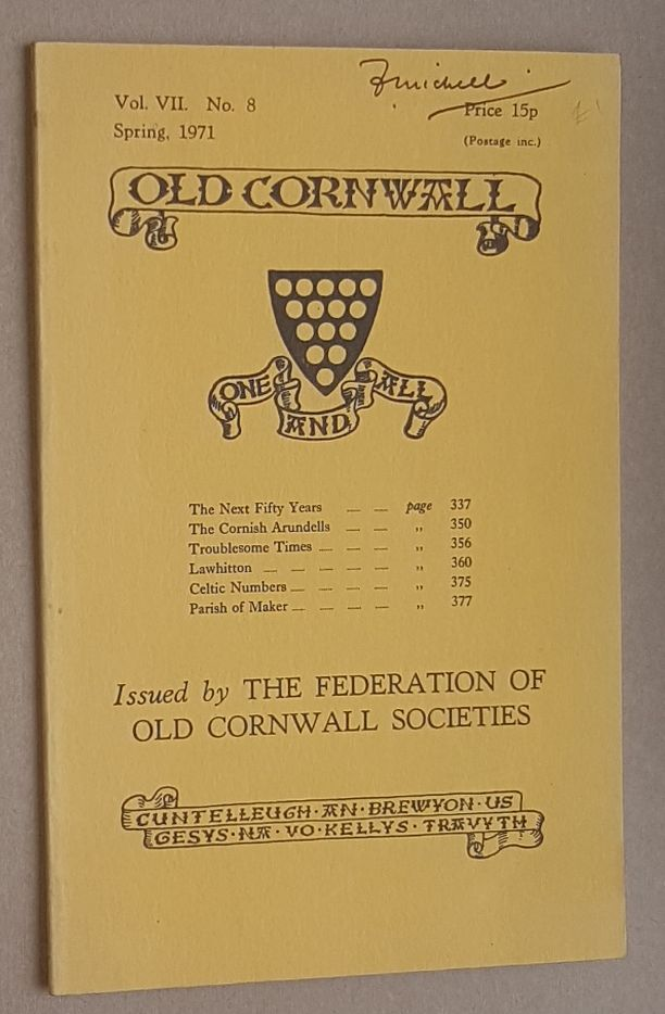 Image for Old Cornwall vol.VII, no.8, Spring 1971