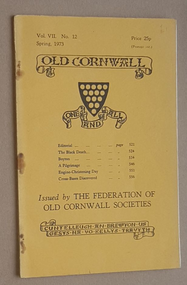 Image for Old Cornwall vol.VII, no.12, Spring 1973