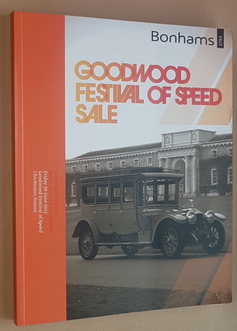 Image for Important Collectors' Motor Cars and Automobilia, Friday 29 June 2012, Goodwood Festival of Speed, Chichester, Sussex