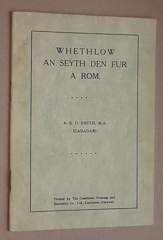 Image for Whethlow an Seyth Den Fur a Rom