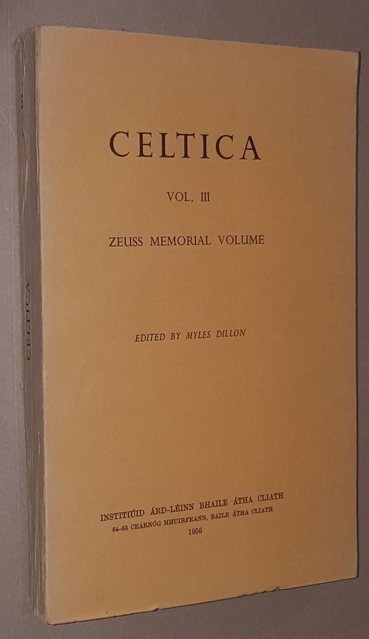 Image for Celtica Vol. III (Zeuss Memorial Volume)