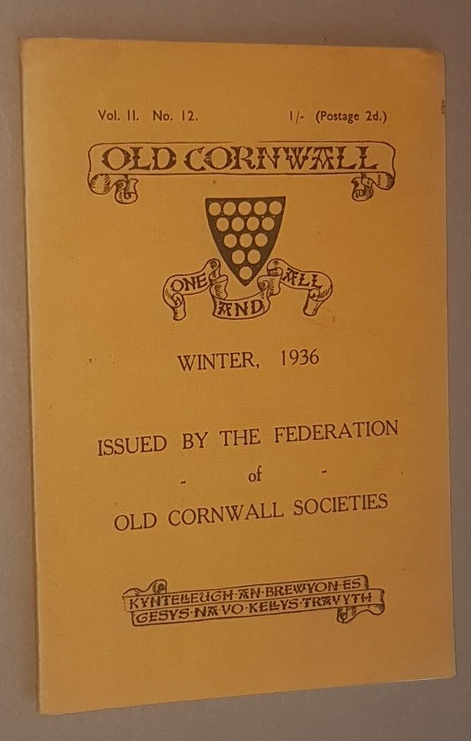 Image for Old Cornwall vol.II, no12, Winter 1936
