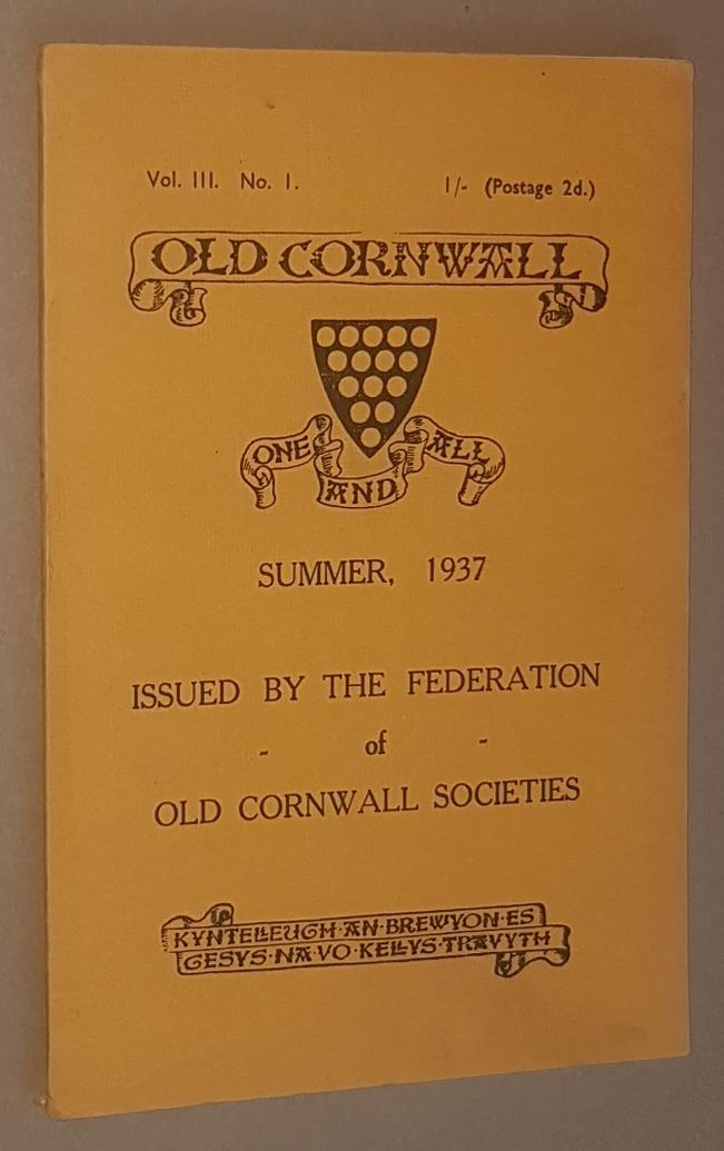 Image for Old Cornwall vol.III, no.1, Summer 1937