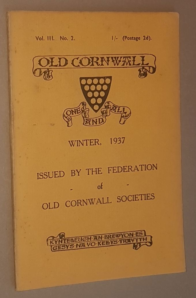 Image for Old Cornwall vol.III, no.2, Winter 1937