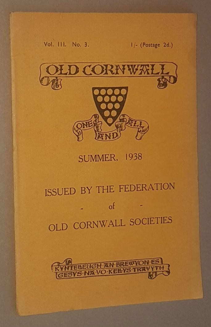 Image for Old Cornwall vol.III, no.3, Summer 1938