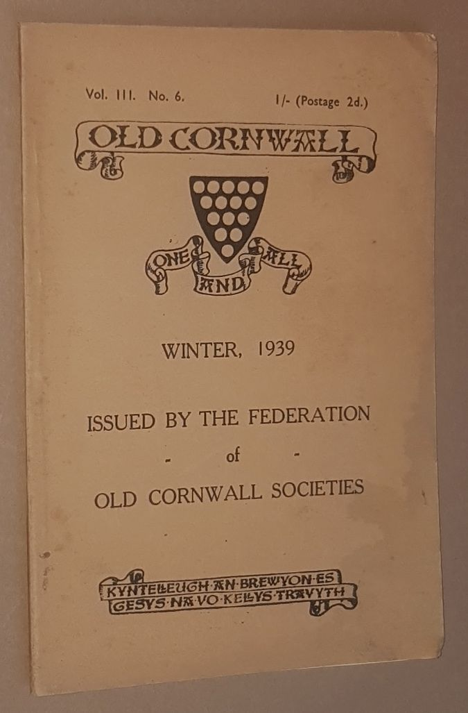 Image for Old Cornwall vol.III, no.6, Winter 1939