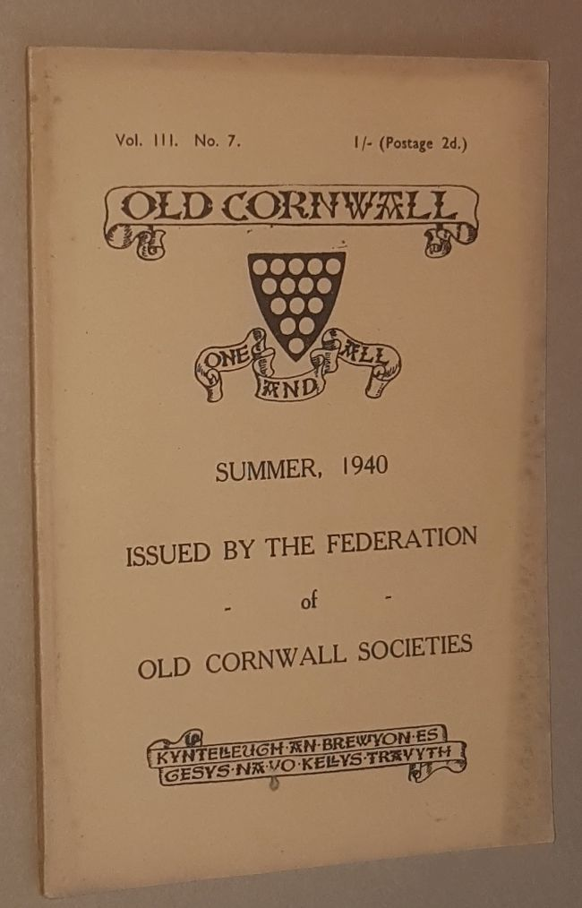 Image for Old Cornwall vol.III, no.7, Summer 1940